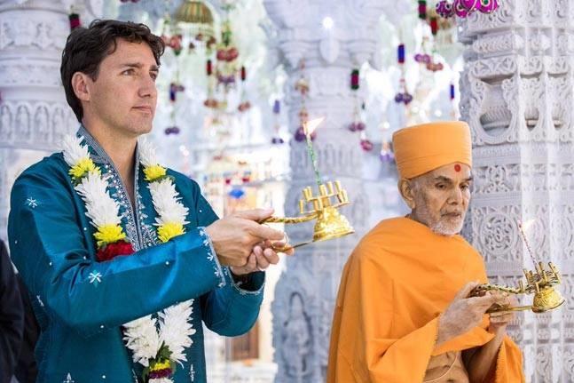 تصاویر | نخستوزیر کانادا در معبد هندوها