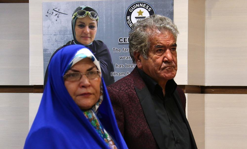 تصاویر | بانوی دریا؛ اولین بانوی ایرانی رکورد دار گینس