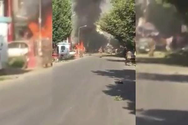 فیلم | انفجار خودروی بمبگذاری شده در کابل