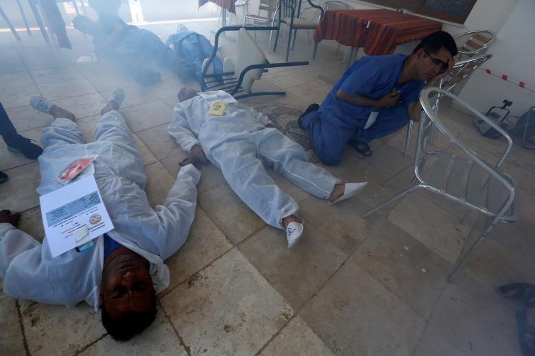 تصاویر   آمادهسازی سوریها برای مواجهه با حملات شیمیایی