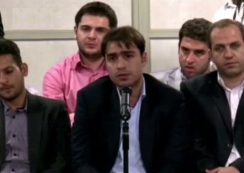 فیلم | شعرخوانی درباره حضرت معصومه(س) در حضور رهبر انقلاب