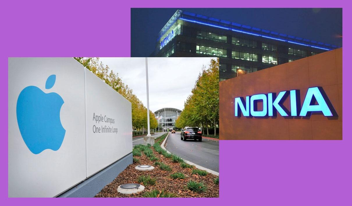چک ۲ میلیارد دلاری اپل به نوکیا تکنولوجیس