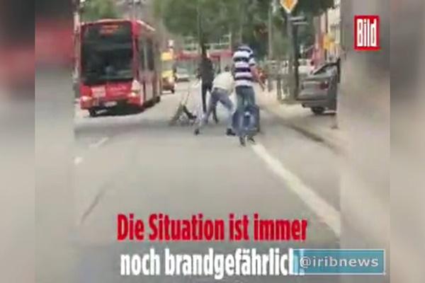 فیلم | جدیدترین ویدئو از حمله مهاجم چاقو به دست اماراتی در هامبورگ