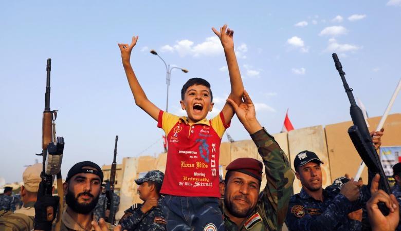 تصاویر | جشن نیروهای عراقی در آخرین روزهای حضور داعش در موصل