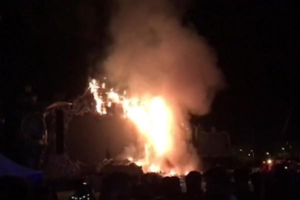 فیلم   آتشسوزی مهیب در جشنواره موسیقی اسپانیا