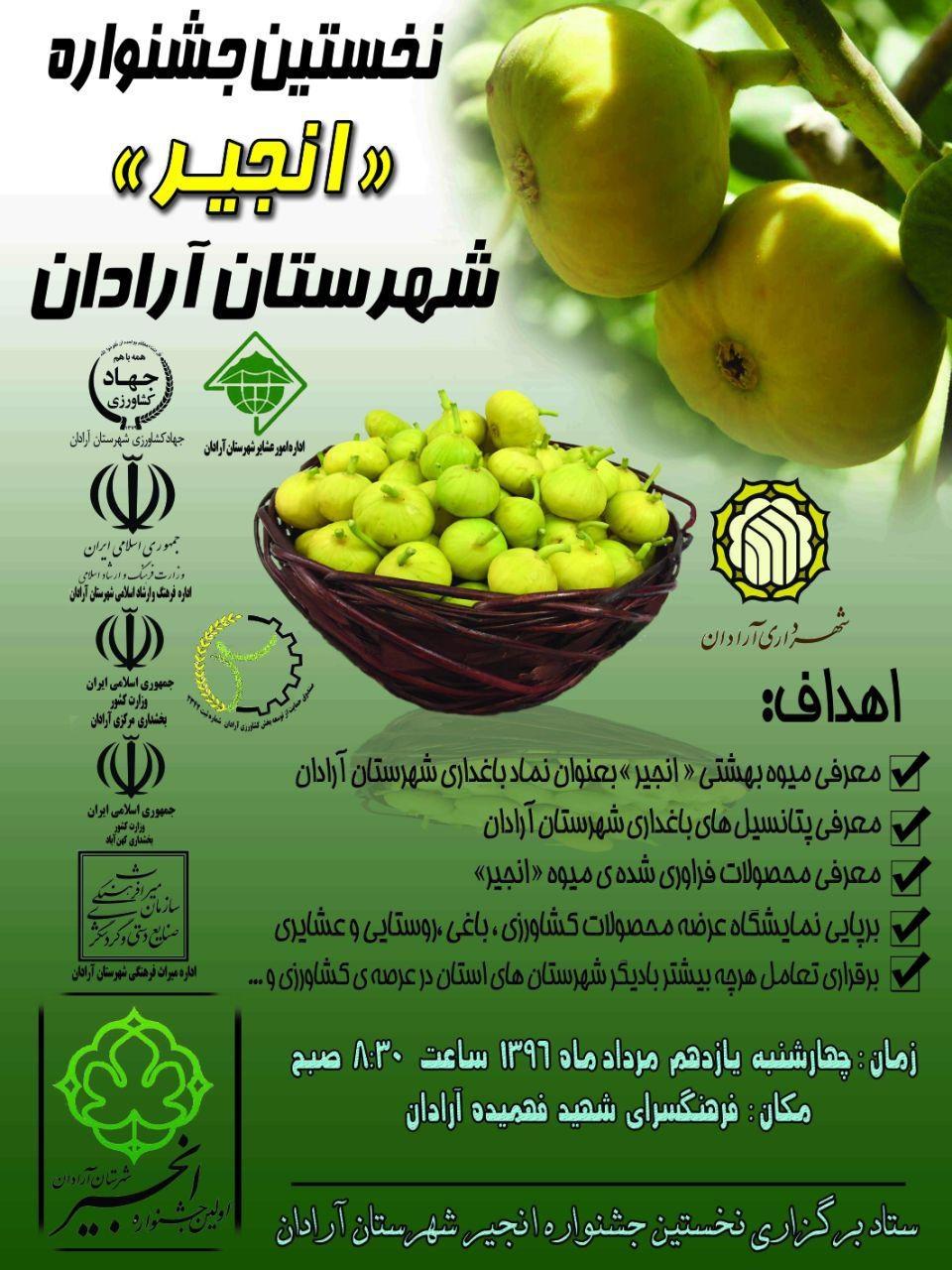 جشنواره انجیر در شهرستان آرادان برگزار می شود