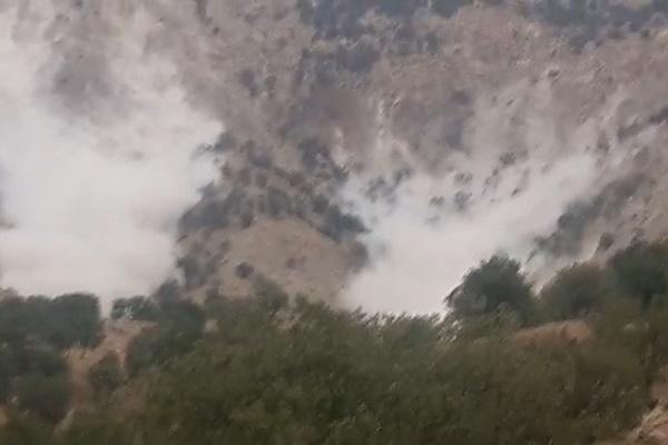 فیلم | ریزش کوه بر اثر زلزله در چهارمحال و بختیاری