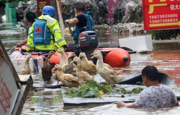 تصاویر   ویرانیهای سیل سنگین چین در ۷ روز