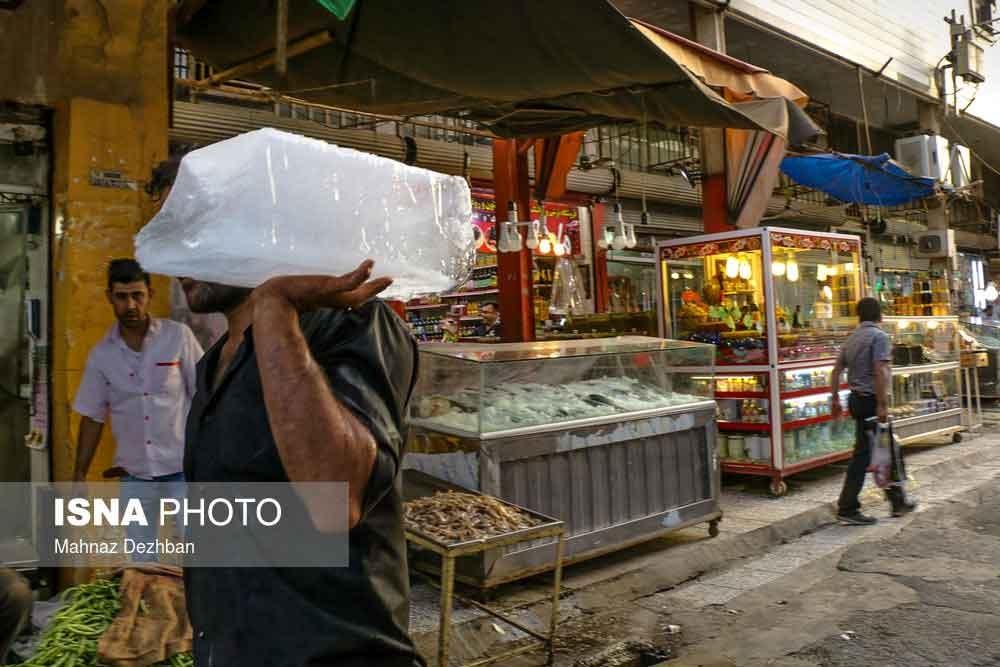 تصاویر | روزگار مردم در گرمای بیسابقه در اهواز