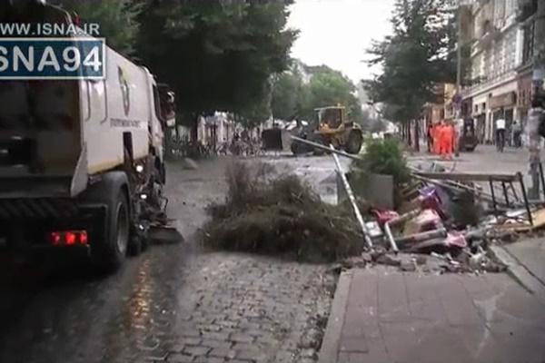 فیلم | ویرانیهای هامبورگ پس از اعتراضات به اجلاس جی۲۰