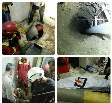 مرگ ۴ نفر در پی ریزش چاه یک ساختمان در خیابان ولی عصر