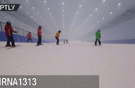 فیلم | بزرگترین پیست اسکی سرپوشیده جهان را ببینید