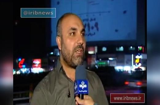 فیلم | پخش ویدئو در بزرگترین بیلبورد تهران بهمناسبت اربعین شهدای حادثه مجلس