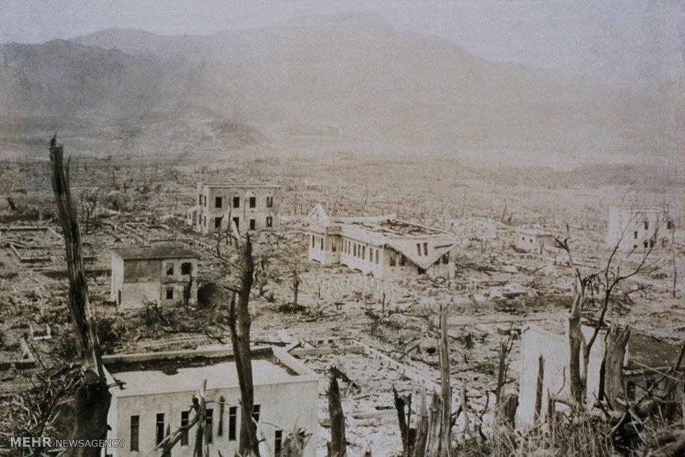 تصاویری ناگوار از حمله اتمی آمریکا به ناکازاکی
