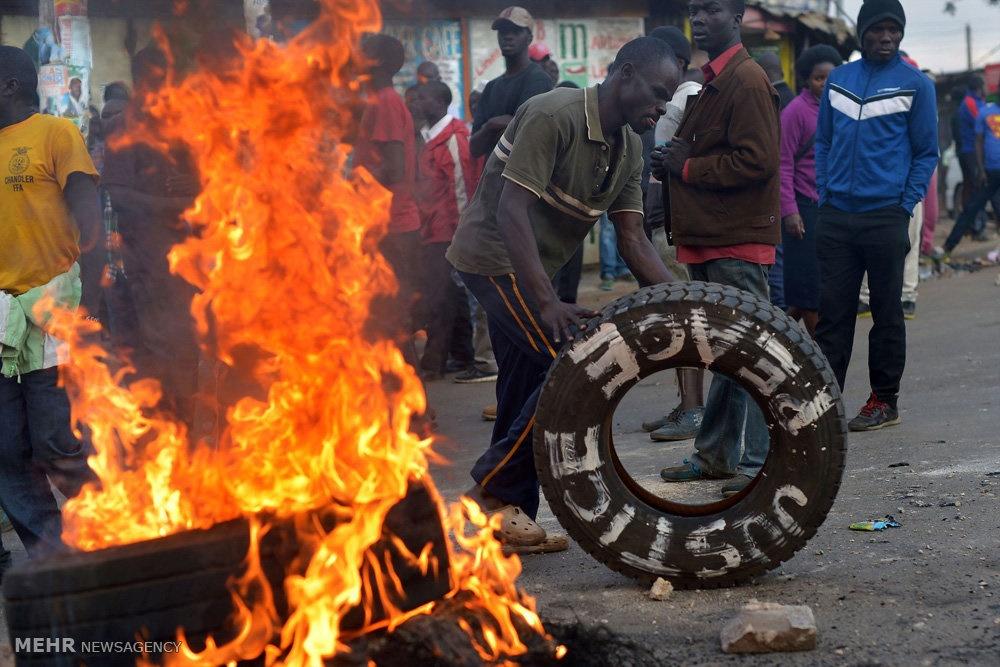 تصاویر | آتش و درگیری در کنیا با ادعای تقلب در انتخابات