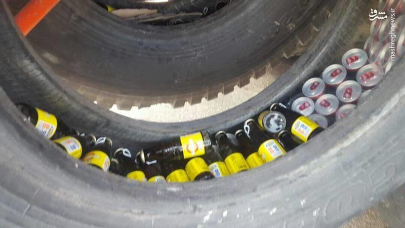 عکس | کشف محموله قاچاق در لاستیک کامیون