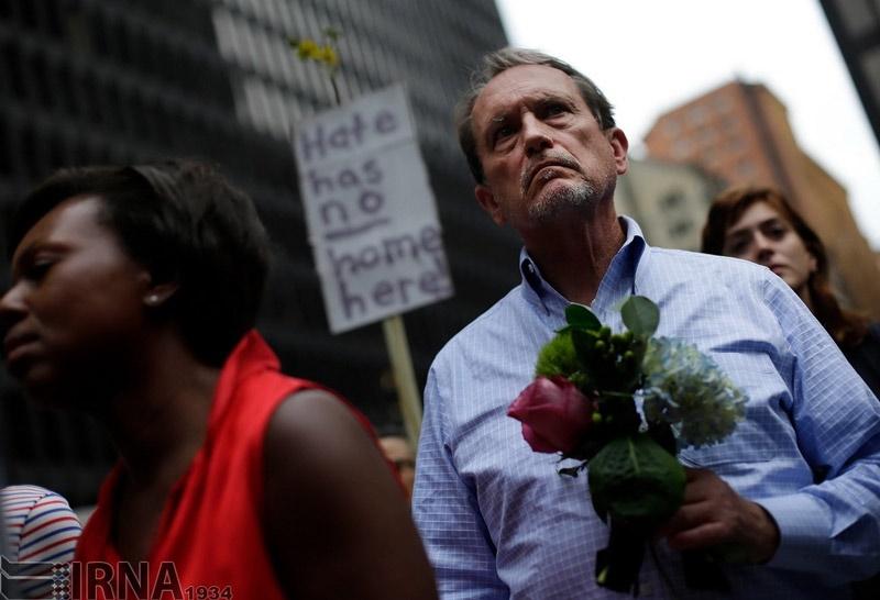 تصاویر | سرخ و سیاه و سفید در تجمع ضدنژادپرستی در آمریکا