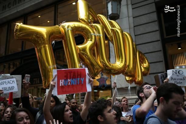 تصاویر | استقبال متفاوت از ترامپ در آمریکا