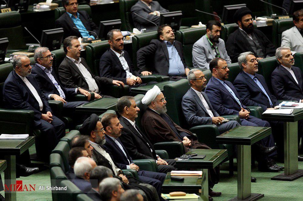 عکس | وزرای پیشنهادی کابینه دوازدهم در مجلس
