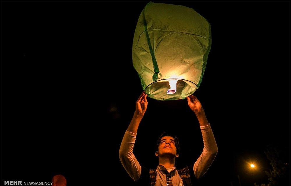 تصاویر | پرواز بالنها در بجنورد به یاد کودکان جنگزده سوریه