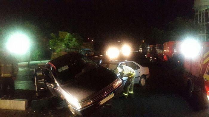 عکس | تصادف شدید دو پژو ۴۰۵ در شرق تهران