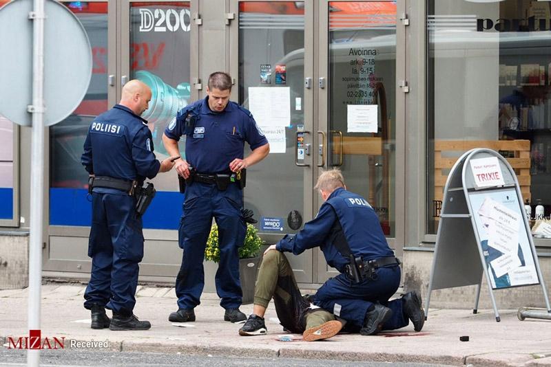 تصاویر   حمله بیهدف با چاقو به جمعیت عابران در فنلاند