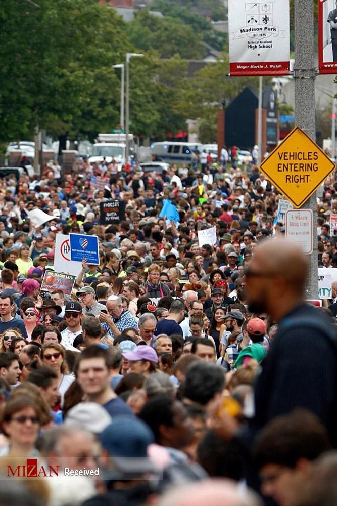 تصاویر | تظاهرات ضدنژادپرستی در بوستون
