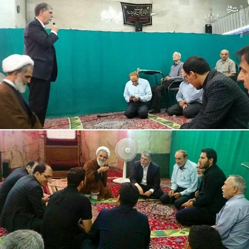 عکس | حضور متفاوت وزیر جدید ارشاد در مسجد «میرزا عیسیخان وزیر»