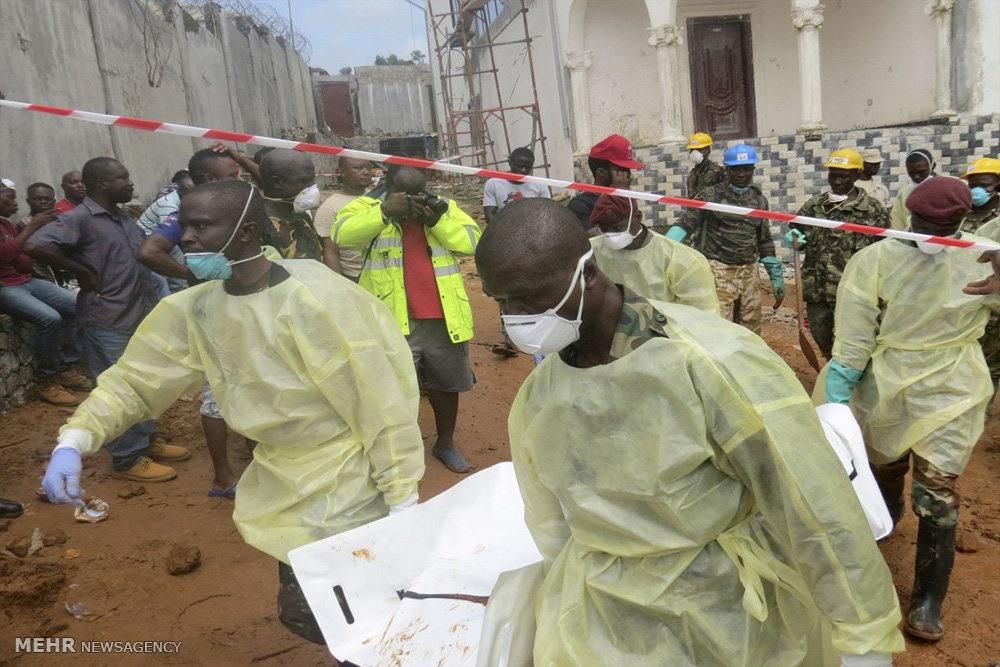 تصاویر | کشف ۵۰۰ جسد از زیر گل و لای سیرالئون