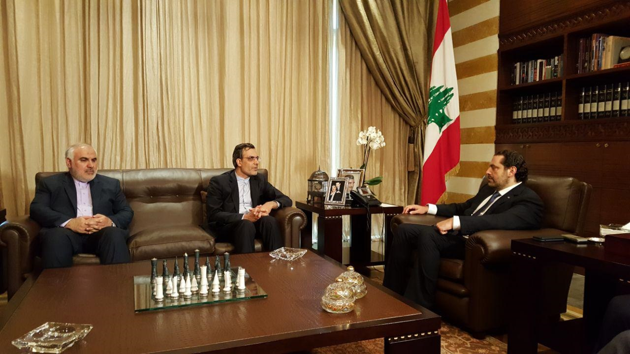 دیدار جابریانصاری با نخستوزیر لبنان