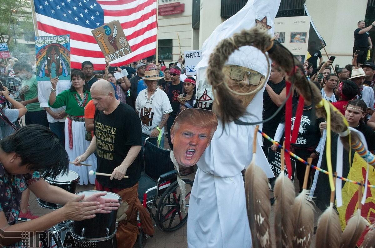 تصاویر | تظاهرات گسترده آمریکاییها علیه ترامپ