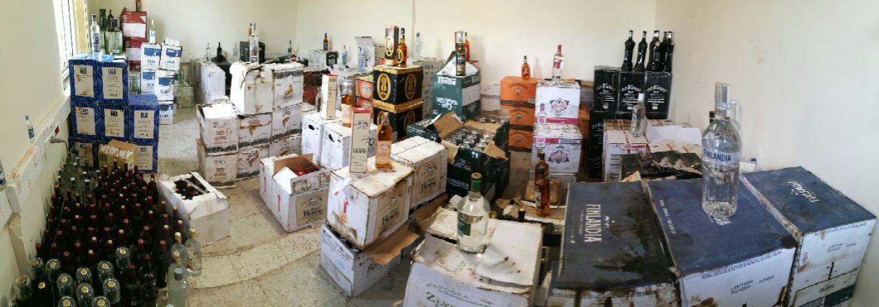 کشف محموله بزرگ ۱۱ تنی مشروبات الکلی