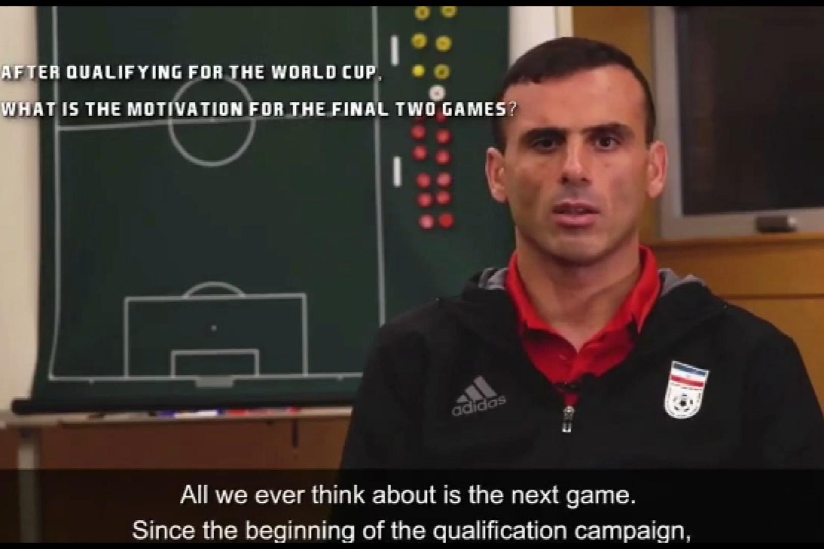 فیلم | مصاحبه سید جلال حسینی با ایافسی پیش از بازی ایران و کره