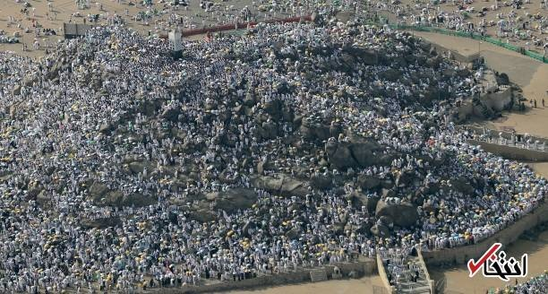 تصاویر هوایی از جمعیت میلیونی حجاج در صحرای عرفات