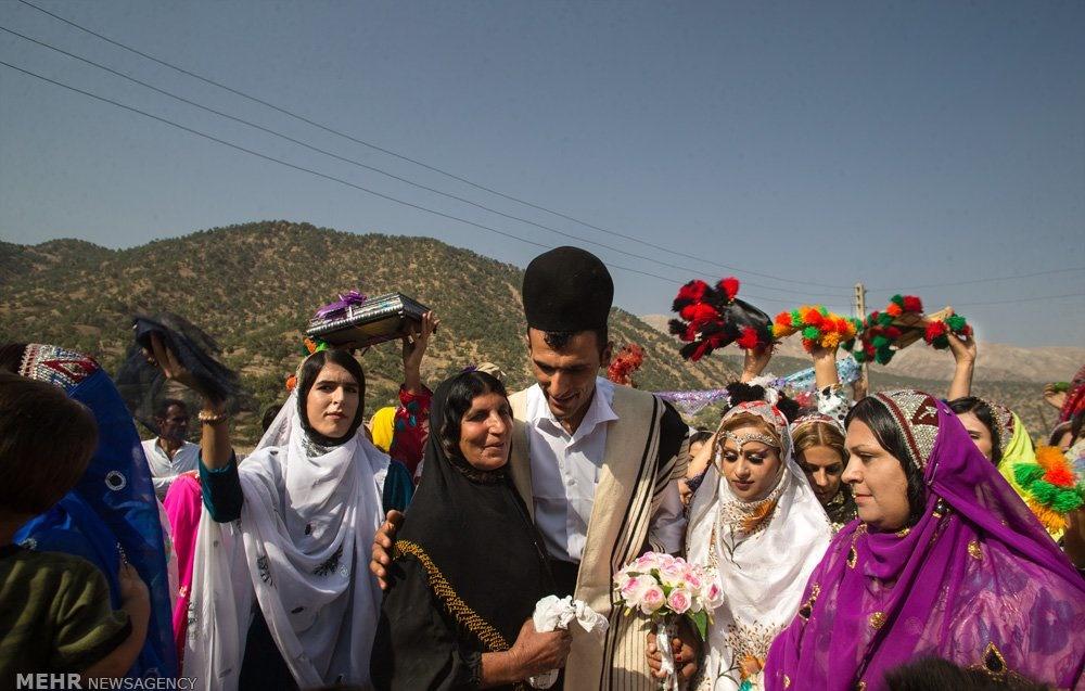تصاویر   سمفونی رنگها در عروسی قوم بختیاری